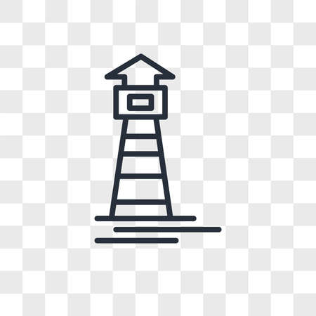 Lighthouse vector icon isolated on transparent background, Lighthouse logo concept