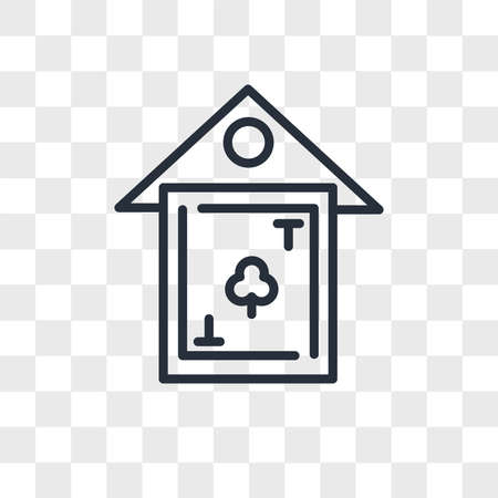 clubhouse vector icon isolated on transparent background, clubhouse logo concept