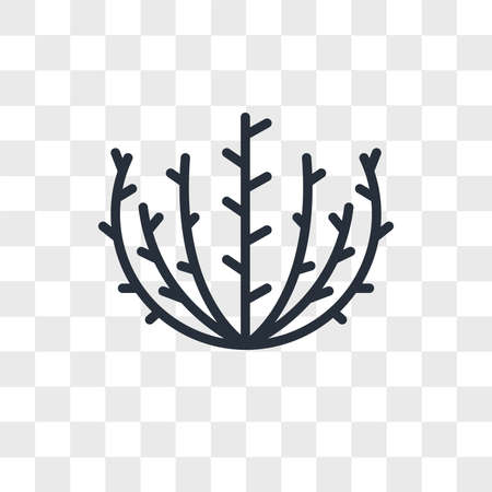 tumbleweed vector icon isolated on transparent background, tumbleweed logo concept