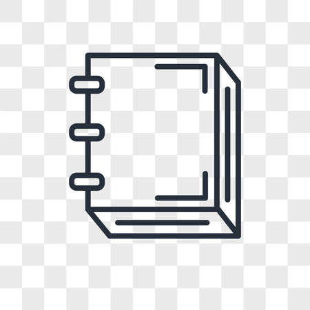 Notebook vector icon isolated on transparent background, Notebook logo concept 스톡 콘텐츠 - 150639196
