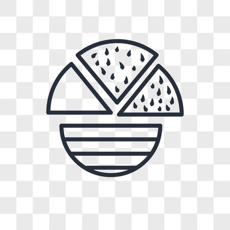 Pie chart vector icon isolated on transparent background, Pie chart logo concept Ilustrace