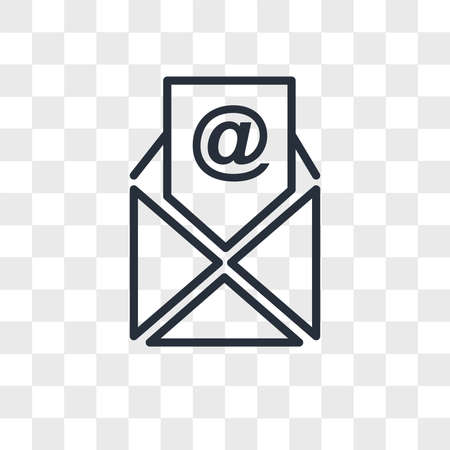 email vector icon isolated on transparent background, email logo concept Ilustrace