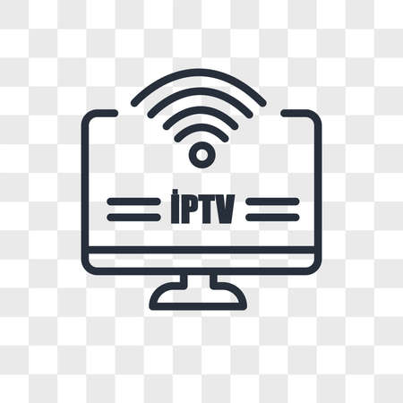 iptv vector icon isolated on transparent background, iptv logo concept