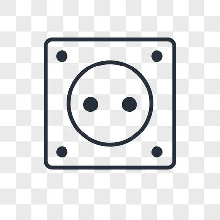 Socket vector icon isolated on transparent background, Socket logo concept 矢量图像
