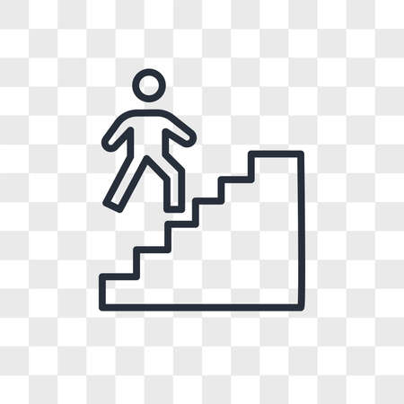stairwell vector icon isolated on transparent background, stairwell logo concept 矢量图像