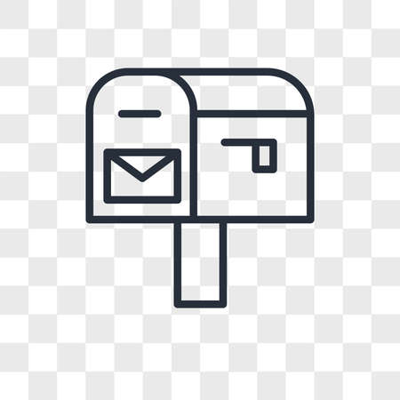 po box vector icon isolated on transparent background, po box logo concept 矢量图像