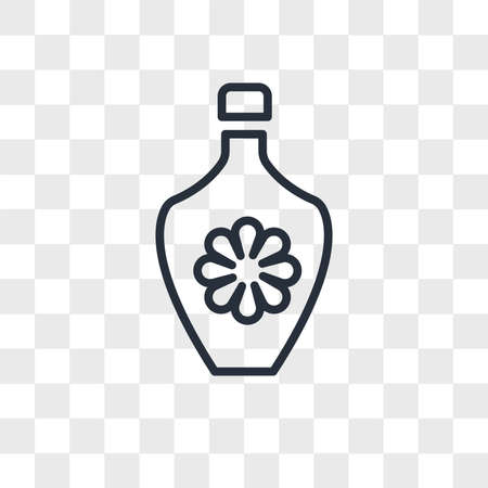 perfume vector icon isolated on transparent background, perfume logo concept Ilustrace