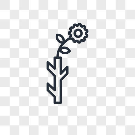 Budding Staff vector icon isolated on transparent background, Budding Staff logo concept Ilustrace