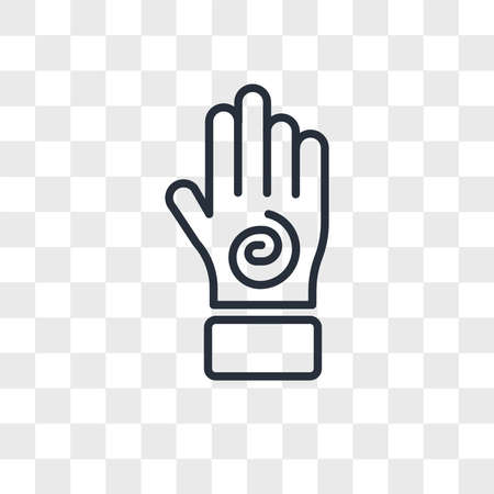 Hand with an spiral vector icon isolated on transparent background, Hand with an spiral logo concept