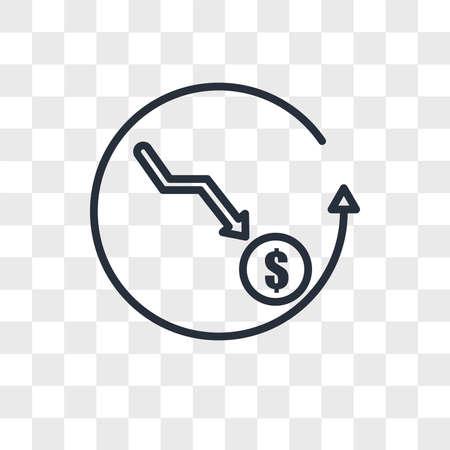 cheaper vector icon isolated on transparent background, cheaper logo concept Archivio Fotografico - 150638136