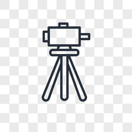 surveyor vector icon isolated on transparent background, surveyor logo concept
