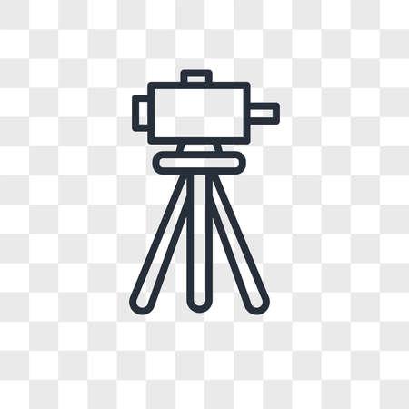 surveyor vector icon isolated on transparent background, surveyor logo concept Archivio Fotografico - 150638139