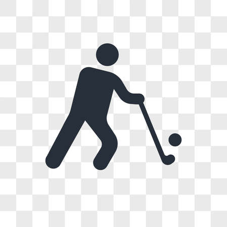 Golfer vector icon isolated on transparent background, Golfer logo concept