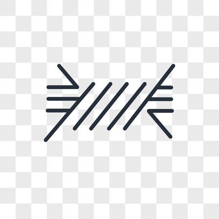 Wire vector icon isolated on transparent background, Wire logo concept