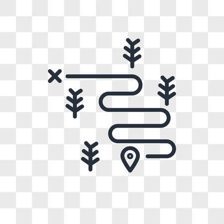Hiking vector icon isolated on transparent background, Hiking logo concept