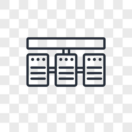 server stack vector icon isolated on transparent background, server stack logo concept Vettoriali