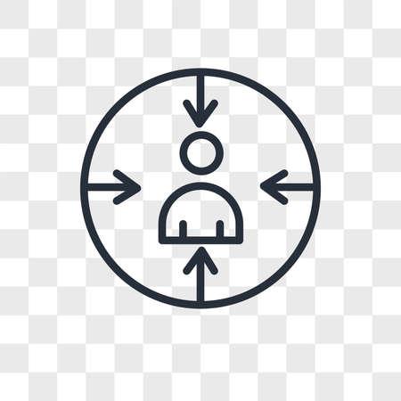 retargeting vector icon isolated on transparent background, retargeting logo concept Reklamní fotografie - 150637975