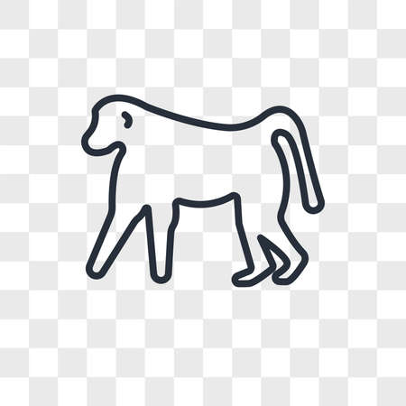 baboon vector icon isolated on transparent background, baboon logo concept
