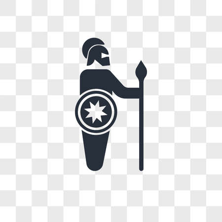 Spartan soldier vector icon isolated on transparent background, Spartan soldier logo concept