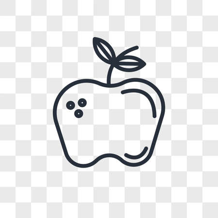 Apple vector icon isolated on transparent background, Apple logo concept