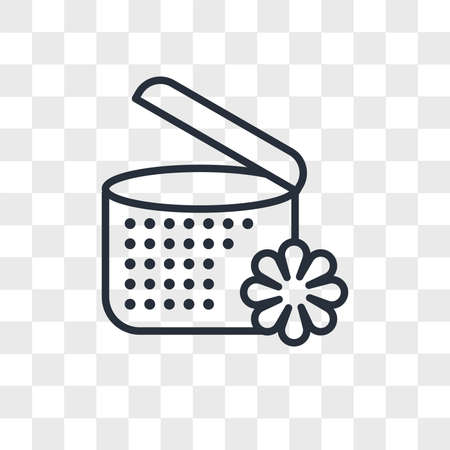 spa ointment with flower vector icon isolated on transparent background, spa ointment with flower logo concept