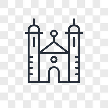 Synagogue vector icon isolated on transparent background, Synagogue logo concept