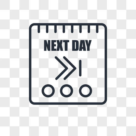 next day vector icon isolated on transparent background, next day logo concept