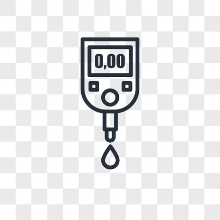 blood sugar vector icon isolated on transparent background, blood sugar logo concept
