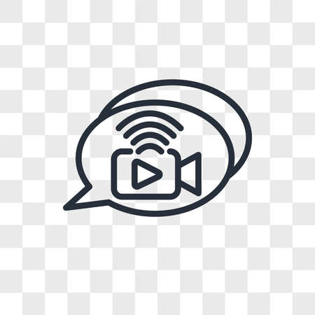 livechat vector icon isolated on transparent background, livechat logo concept Ilustrace