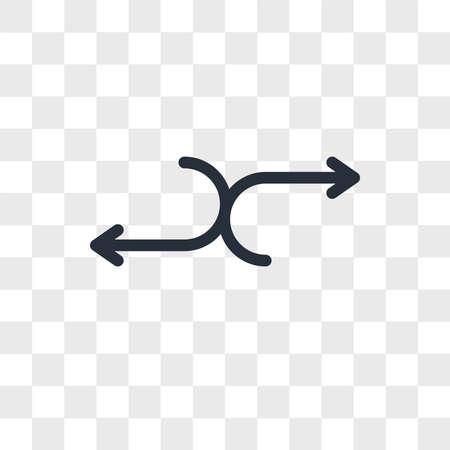 Random vector icon isolated on transparent background, Random logo concept
