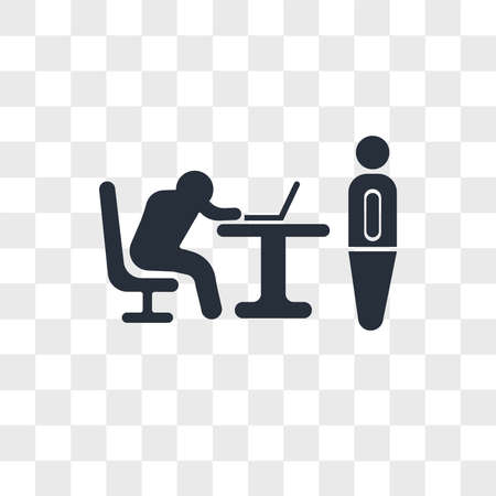Boss catching a worker sleeping vector icon isolated on transparent background, Boss catching a worker sleeping logo concept