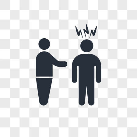 Man threating vector icon isolated on transparent background, Man threating logo concept