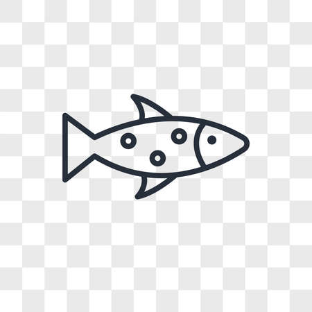 Fish vector icon isolated on transparent background, Fish logo concept