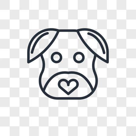 minimalist dog vector icon isolated on transparent background, minimalist dog logo concept