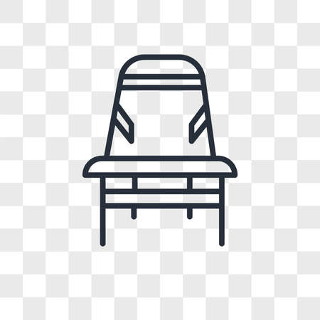 Desk chair vector icon isolated on transparent background, Desk chair logo concept