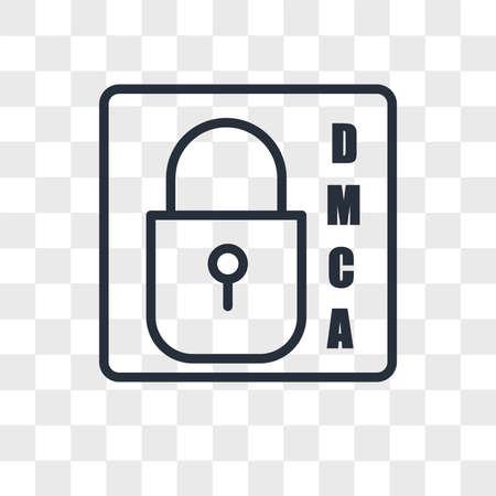 dmca vector icon isolated on transparent background, dmca logo concept 向量圖像