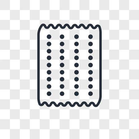 Matzo vector icon isolated on transparent background, Matzo logo concept