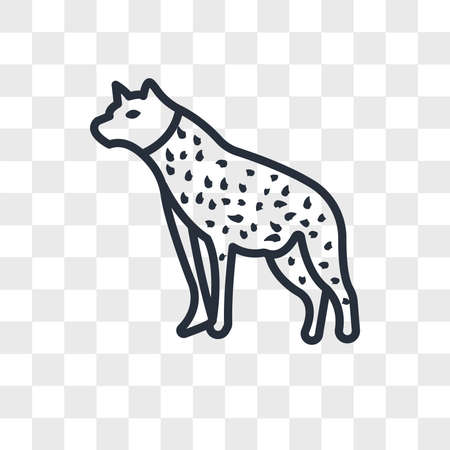 hyena vector icon isolated on transparent background, hyena logo concept