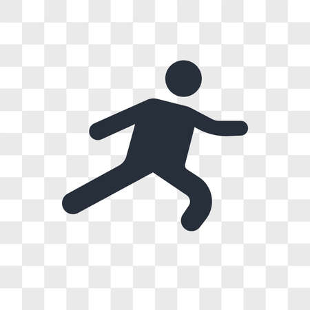 Long Jump vector icon isolated on transparent background, Long Jump logo concept Illustration
