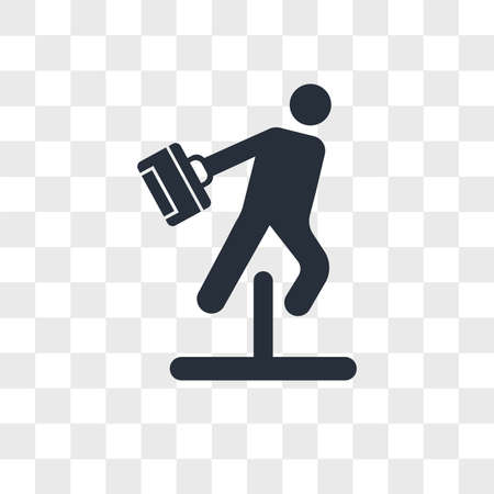 Businessman jumping an obstacle vector icon isolated on transparent background, Businessman jumping an obstacle logo concept