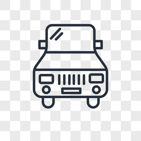 Car vector icon isolated on transparent background, Car logo concept Reklamní fotografie - 150637480
