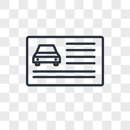 drivers license vector icon isolated on transparent background, drivers license logo concept