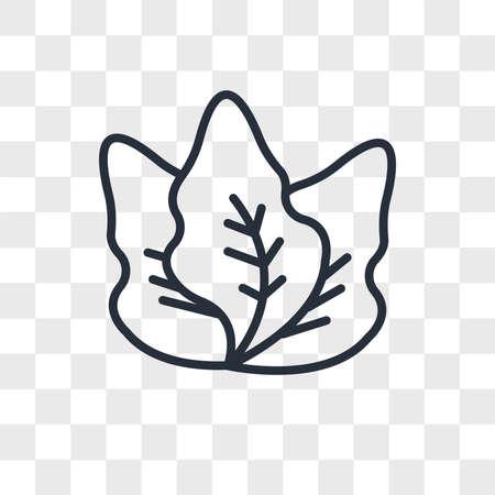 kale vector icon isolated on transparent background, kale logo concept Çizim
