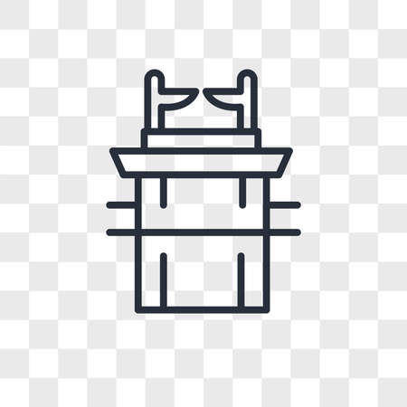 Ark of the Convenant vector icon isolated on transparent background, Ark of the Convenant logo concept
