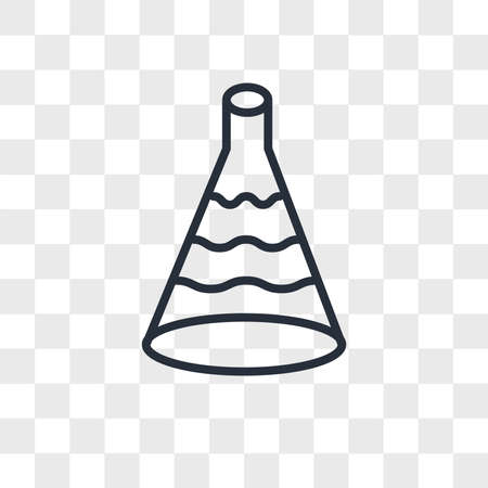 Flask vector icon isolated on transparent background, Flask logo concept