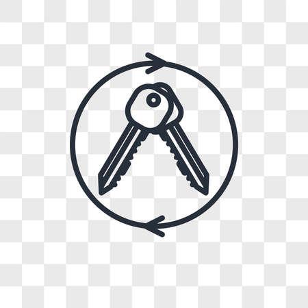 turnkey vector icon isolated on transparent background, turnkey logo concept