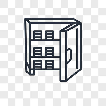 Strongbox vector icon isolated on transparent background, Strongbox logo concept Иллюстрация