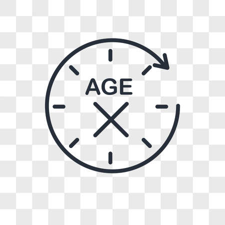 anti aging vector icon isolated on transparent background, anti aging logo concept Çizim