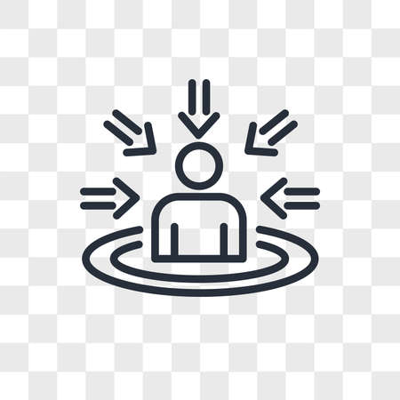 customer centricity vector icon isolated on transparent background, customer centricity logo concept Ilustrace