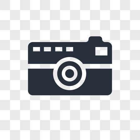 Photographer vector icon isolated on transparent background, Photographer logo concept